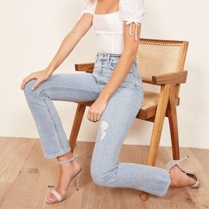 Reformation Liza High Rise Straight size 23 NWT